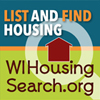 Wisconsin Housing Search button with attached link